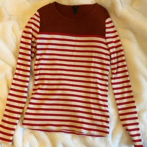 Small Long Sleeve Striped Ribbed J Crew Shirt